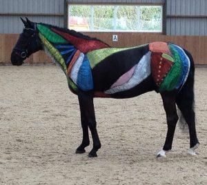 beschilderd paard
